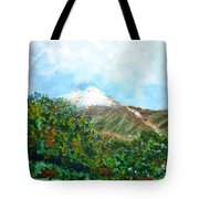 Autumn At The Foot Of Mount Elbrus Tote Bag