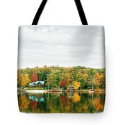 Autumn At The Lake - Pocono Mountains Tote Bag by Vivienne Gucwa