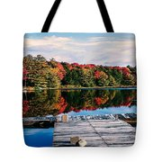 Autumn At The Pond Tote Bag