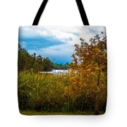 Autumn At The River Tote Bag