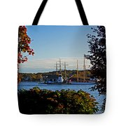 Autumn At The Seaport Tote Bag
