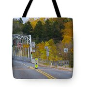 Autumn At Washington's Crossing Bridge Tote Bag