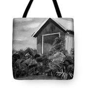 Autumn Barn - Upclose Cropped - Black And White Tote Bag