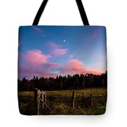 Autumn Barnyard Sunset Tote Bag