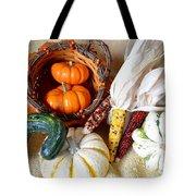 Autumn Basketful With Corn Tote Bag
