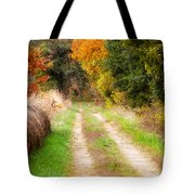 Autumn Beauty On Rural Dirt Road Tote Bag