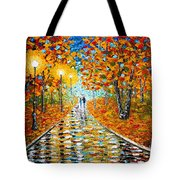 Autumn Beauty Original Palette Knife Painting Tote Bag