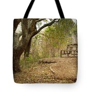 Autumn Bench Tote Bag