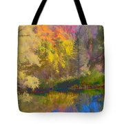 Autumn Beside The Pond Tote Bag
