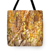 Autumn Birch Leaves Tote Bag