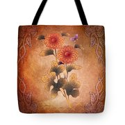 Autumn Blooming Mum Tote Bag