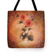 Autumn Blooming Mum Tote Bag by Bedros Awak