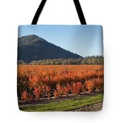 Autumn Blueberry Panorama Tote Bag