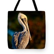 Autumn Brown Pelican Tote Bag