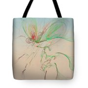 Autumn Butterfly Abstract Tote Bag