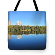 Autumn By The Triangle Lake In Stockholm Tote Bag