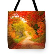 Autumn Cameo Road Tote Bag by Terri Gostola