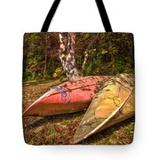 Autumn Canoes Tote Bag