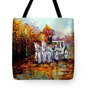 Autumn Carriage Tote Bag