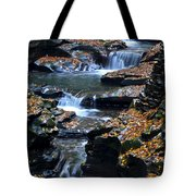 Autumn Cascade Tote Bag by Frozen in Time Fine Art Photography