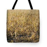 Autumn Cattle Silage Corn In Maine Tote Bag by Keith Webber Jr