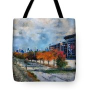 Autumn Chicago White Sox Us Cellular Field Mixed Media 03 Tote Bag