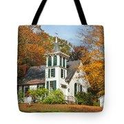 Autumn Church Tote Bag