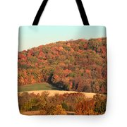 Autumn Color On Rolling Hills Tote Bag