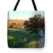 Autumn Color On Rolling Hills And Farmland Tote Bag