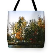 Autumn Color On The Fulton Chain Of Lakes Tote Bag