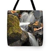 Autumn Colors On Big Crabtree Creek Tote Bag