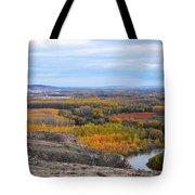 Autumn Colors On The Ebro River Tote Bag