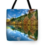 Autumn Colour Staindale Lake Tote Bag