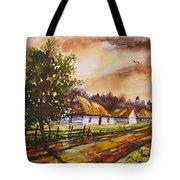 Autumn Cottages Tote Bag