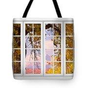 Autumn Cottonwood Tree Longs Peak White Window View Tote Bag