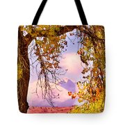 Autumn Cottonwood Twin Peaks View Tote Bag