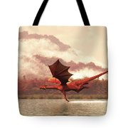 Autumn Dragons Tote Bag