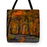 Autumn Drive Freedom And Beauty Tote Bag