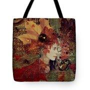 Autumn Dryad Collage Tote Bag