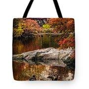 Autumn Duck Couple Tote Bag