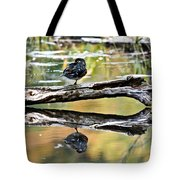 Autumn Duck Reflections Tote Bag