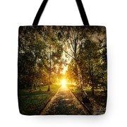 Autumn Fall Park Tote Bag