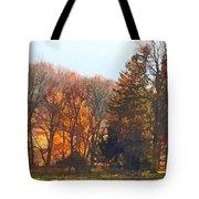Autumn Farm With Harrow Tote Bag