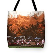 Autumn Football With Cutout Effect Tote Bag