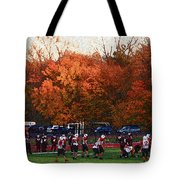 Autumn Football With Sponge Painting Effect Tote Bag