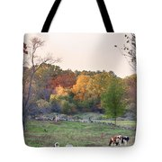 Autumn Forage Before Winter's Arrival Tote Bag