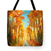 Autumn Forest Impression Tote Bag
