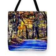 Autumn Forest Road V6 Tote Bag