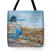 Autumn - Girl At The Lake Tote Bag