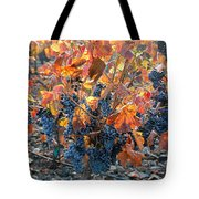 Autumn Grapes Tote Bag